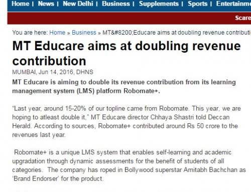 Amitabh Bachchan unveils MT Educare's Education App 'Robomate+':Covered by DECCAN-HERALD