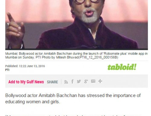 Amitabh Bachchan unveils MT Educare's Education App 'Robomate+':Covered by GULF-NEWS