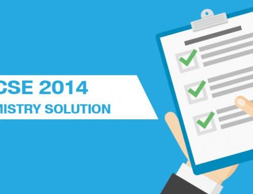 ICSE 2014 CHEMISTRY SOLUTIONS