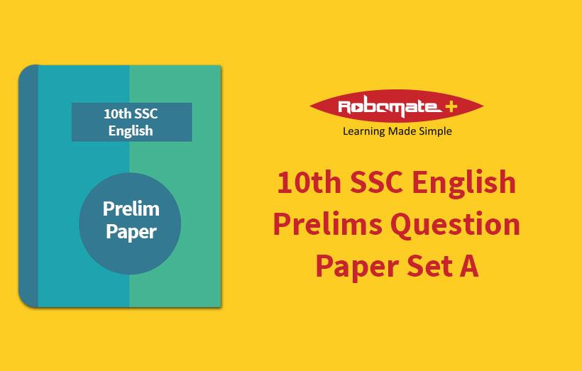 10th SSC English Prelims Answer Paper Set A