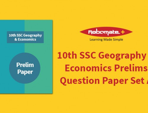 10th SSC Geography & Economics Prelim Answer Paper Set A