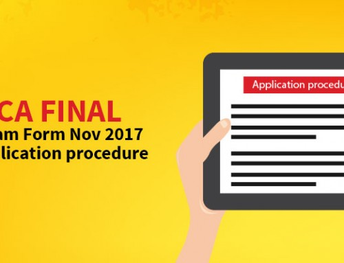 CA Final Exam Form Nov 2017: Application procedure