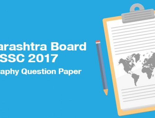 Maharashtra Board SSC 2017 Geography Question Paper