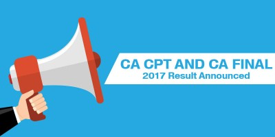 CA CPT AND CA FINAL 2017 RESULT ANNOUNCED