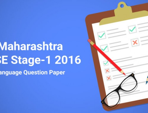 Maharashtra NTSE Stage-1 2016 Language Question Paper