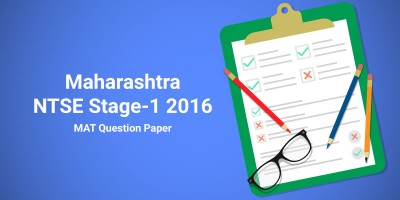 Maharashtra NTSE Stage-1 2016 MAT Question Paper