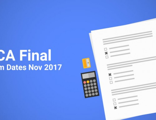 CA Final Exam Dates Nov 2017