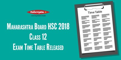 Maharashtra Board HSC 2018 Class 12 Exam Time Table Released