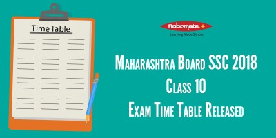 Maharashtra Board SSC 2018 Class 10 Exam Time Table Released