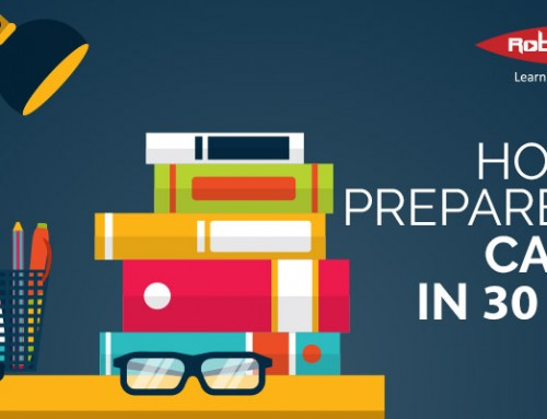 How to Prepare for CA IPCC in 30 Days