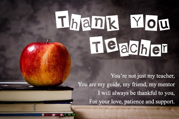 thank you my teacher