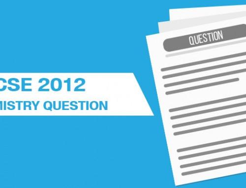 ICSE 2012 CHEMISTRY QUESTIONS
