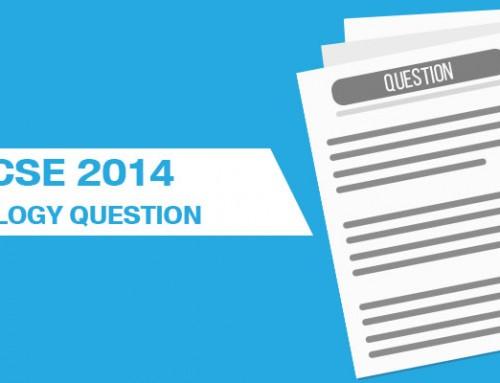 ICSE 2014 Biology Questions