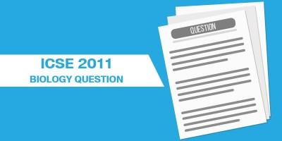 ICSE 2011 BIOLOGY QUESTION