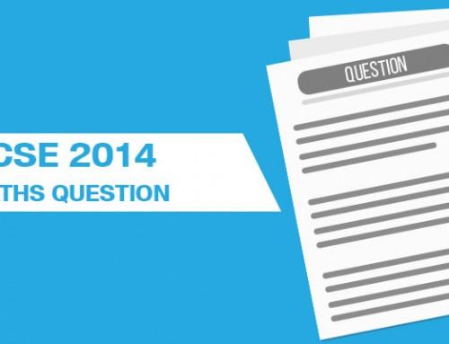 ICSE 2014 MATHS QUESTIONS
