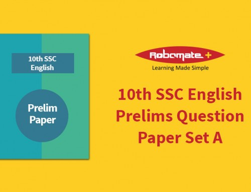 10th SSC English Prelims Answer Paper Set A