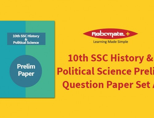 10th SSC History & Political Science Prelim Question Paper Set A