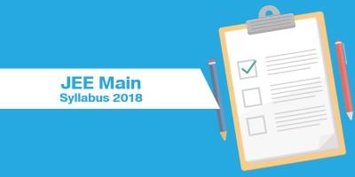 JEE Main Syllabus 2018