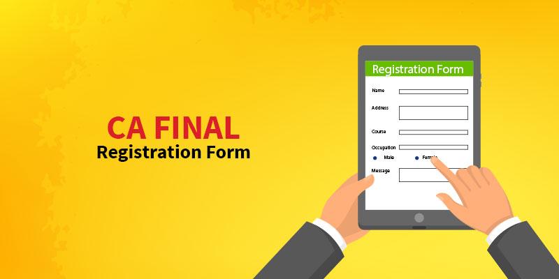 CA Final Registration Form
