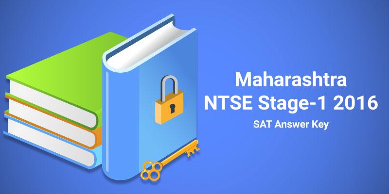 Maharashtra NTSE Stage-1 2016 SAT Answer Key