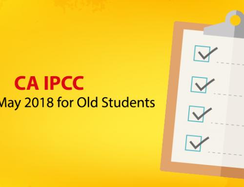 CA IPCC Syllabus May 2018 for Old Students