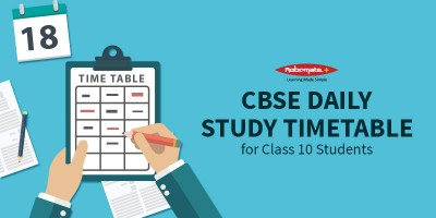 Daily Study Timetable for Class 10 Students CBSE - Robomate Plus