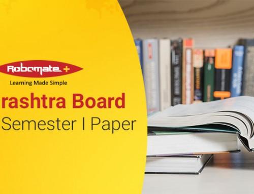 Maharashtra Board SSC 10 Semester I Paper