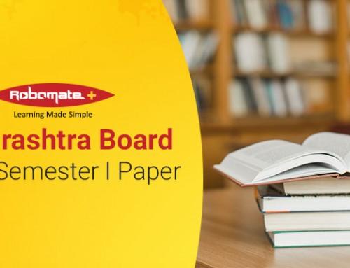 Maharashtra Board SSC 9 Semester I Paper