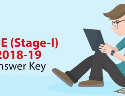 NTSE Stage 1 2018-19 Answer Key