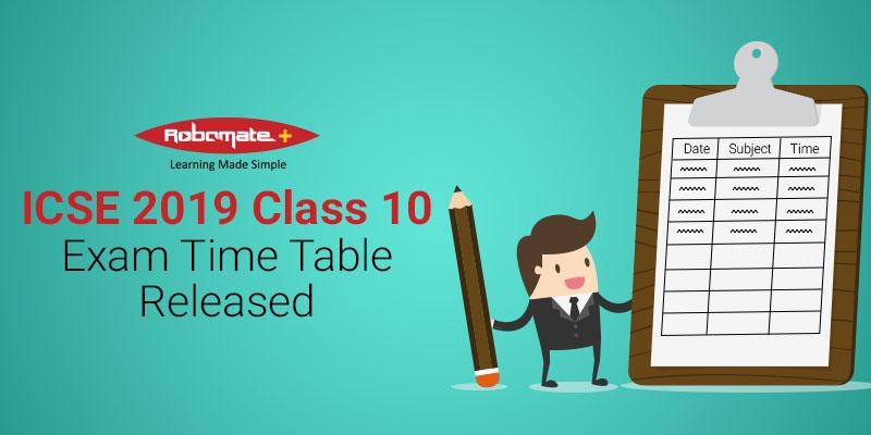 ICSE Time Table - Roobomate+